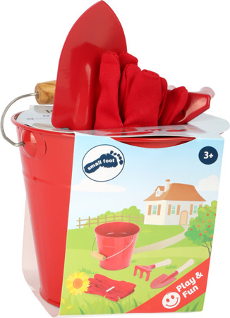 A small gardener set with a bucket