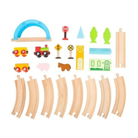 City and Countryside Wooden Toy Train