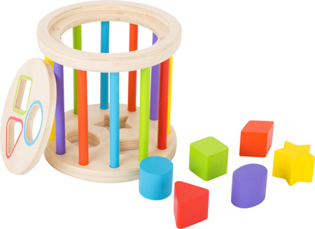 Sorter with colorful rungs